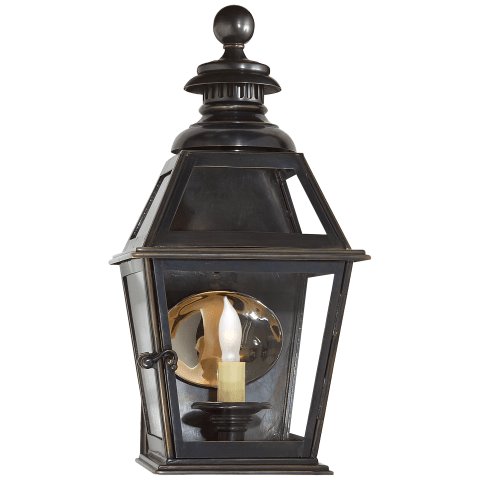 Chelsea Small 3/4 Wall Lantern in Bronze