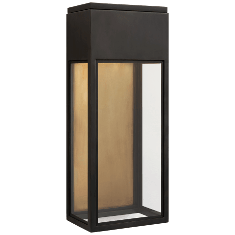 Irvine Medium 3/4 Wall Lantern in Bronze with Clear Glass