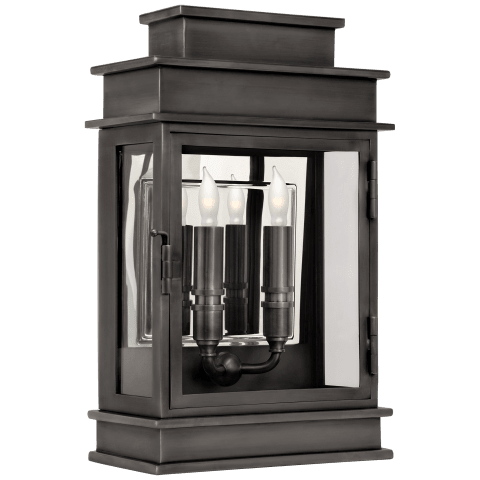 Linear Lantern Short in Bronze