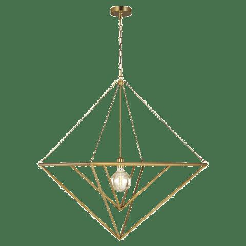 Carat 1 - Light Large Pendant Burnished Brass