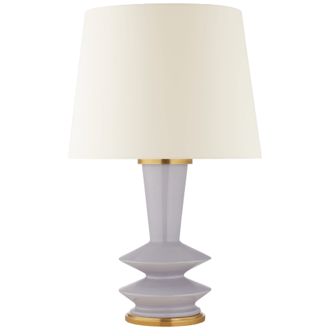 Whittaker Medium Table Lamp in Lilac with Linen Shade