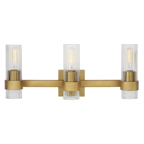 Geneva 3 - Light Vanity Burnished Brass
