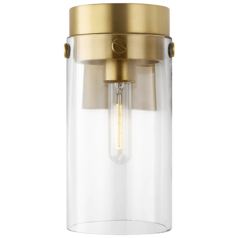 Garrett 1 - Light Wall Sconce Burnished Brass