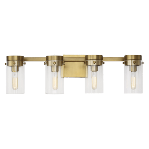 Garrett 4 - Light Vanity Burnished Brass