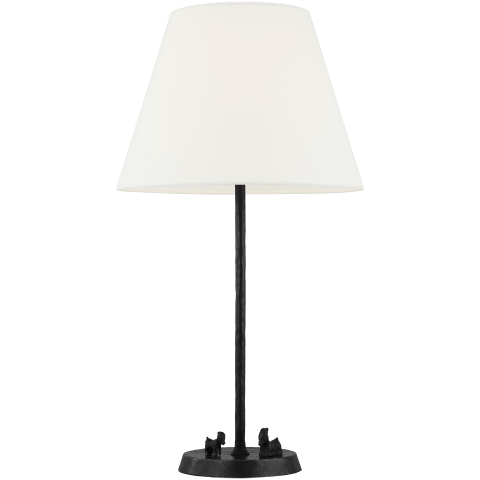 Caroline 1 - Light Table Lamp Aged Iron Bulbs Inc