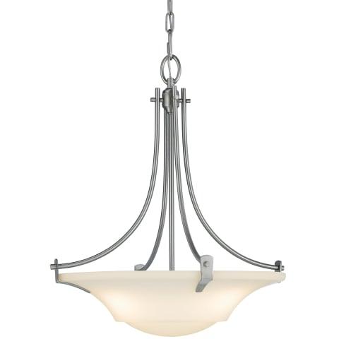 Barrington 3 - Light Uplight Chandelier Brushed Steel