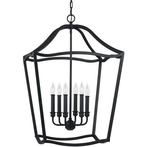 Yarmouth 6 - Light Foyer Antique Forged Iron