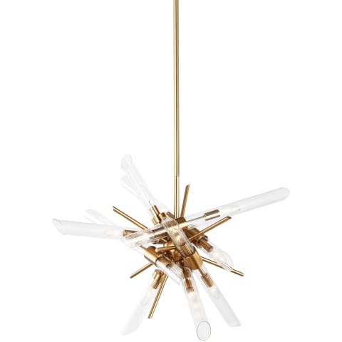 Quorra 14 - Light Chandelier Burnished Brass