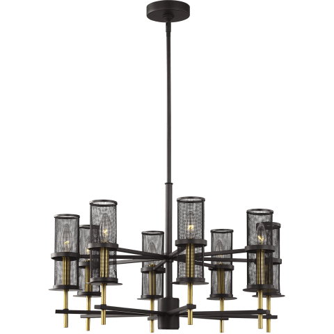 Palmyra 8 - Light Chandelier Oiled Rubbed Bronze / Burnished Brass