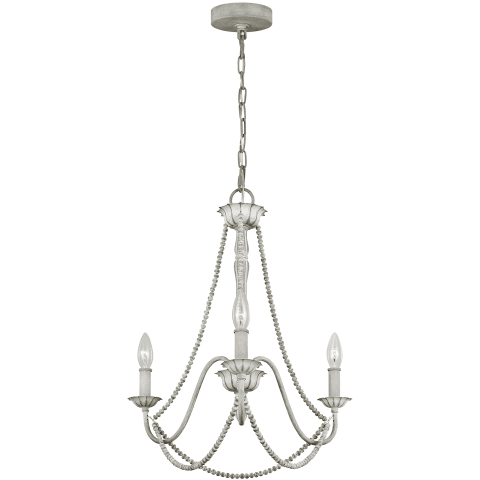 Maryville 3 - Light Chandelier Washed Grey