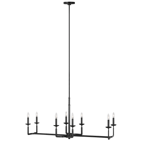 Ansley 8 - Light Linear Chandelier Aged Iron