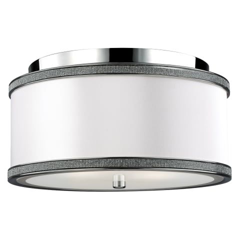 Pave Small Flush Mount Polished Nickel
