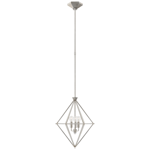 Afton Petite Elongated Lantern in Burnished Silver Leaf
