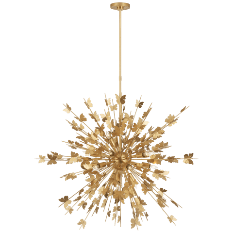 Farfalle Large Chandelier in Gild