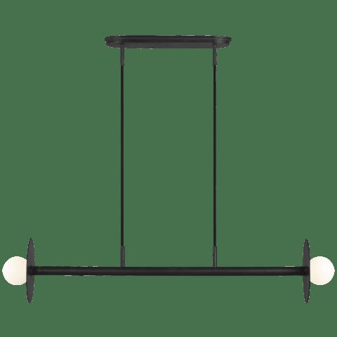 Nodes Medium Linear Chandelier Midnight Black