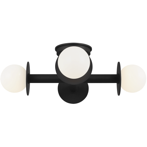 Nodes Semi-Flush Mount Midnight Black