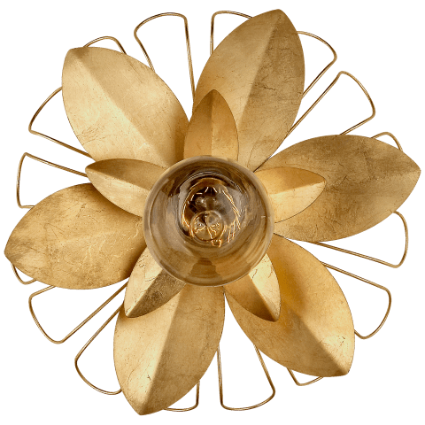 Keaton Mixed Floral Sconce in Gild