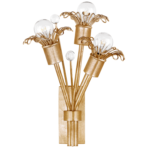 Keaton Mini Bouquet Sconce in Gild