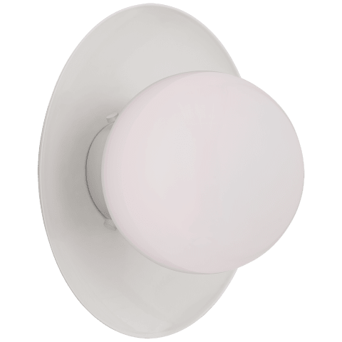 Boswell Small Sconce in White with White Glass