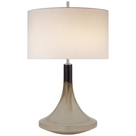 Minola Medium Table Lamp in Cascading Mocha with Linen Shade