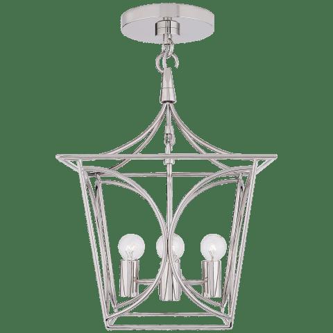 Cavanagh Mini Lantern in Polished Nickel
