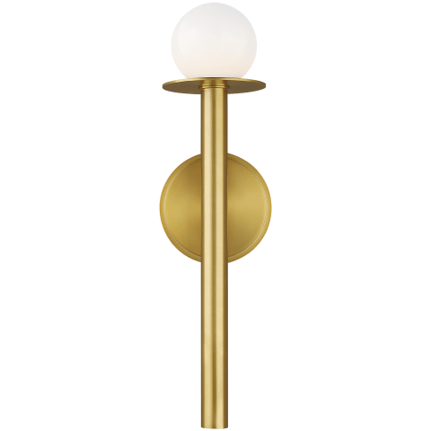 Nodes 1 - Light Wall Sconce Burnished Brass