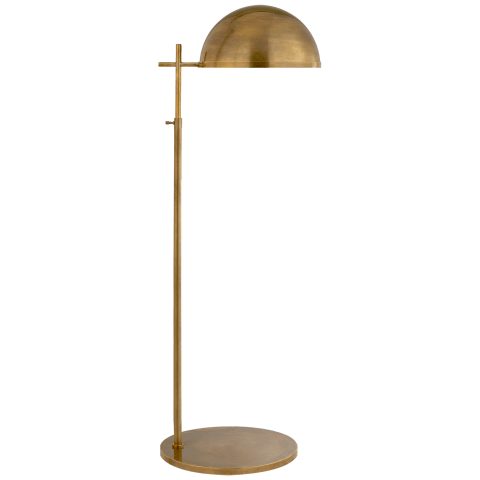 Dulcet Medium Pharmacy Floor Lamp in Antique-Burnished Brass with Antique-Burnished Brass Shade