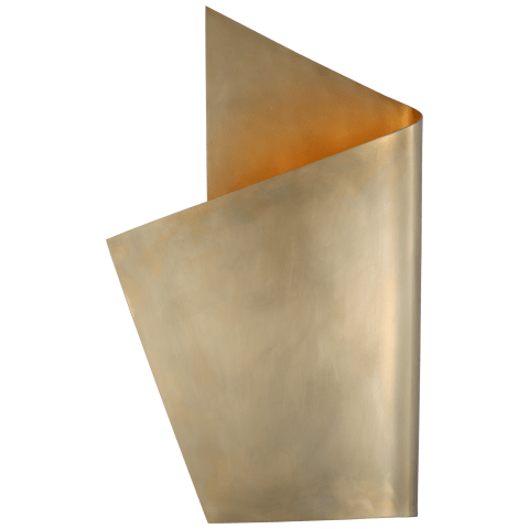 Pelle Left Wrapped Sconce in Antique-Burnished Brass