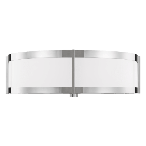 Flynn Large Flush Mount Polished Nickel