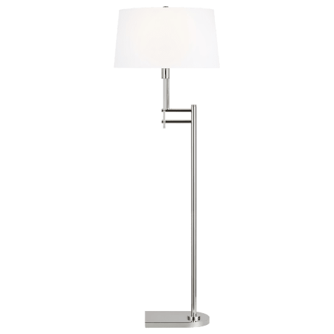Jake Floor Lamp Polished Nickel Bulbs Inc