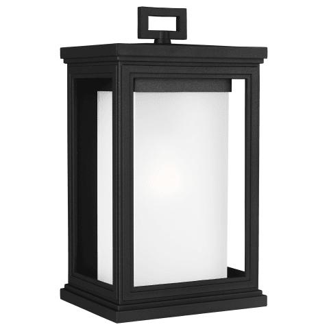 Roscoe Medium Lantern Textured Black