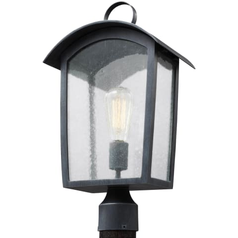 Hodges 1 - Light Outdoor Post Lantern Ash Black
