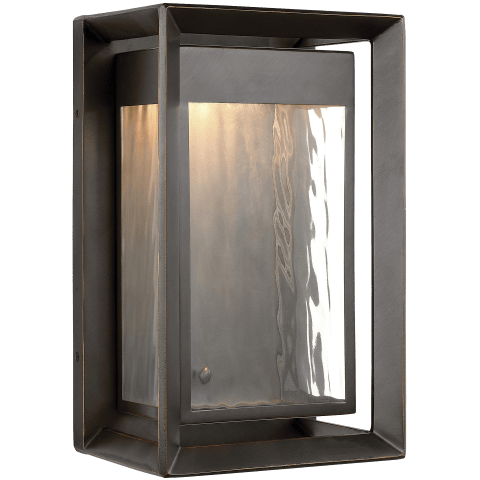 Urbandale 1 - Light Outdoor LED Wall Lantern Antique Bronze Bulbs Inc