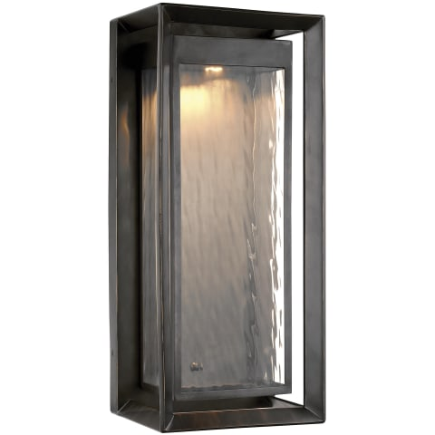 Urbandale 1 - Light Outdoor LED Wall Lantern Antique Bronze Bulbs Inc