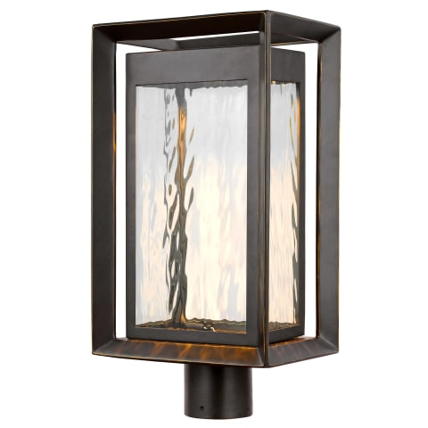 Urbandale 1 - Light Outdoor LED Post Lantern Antique Bronze