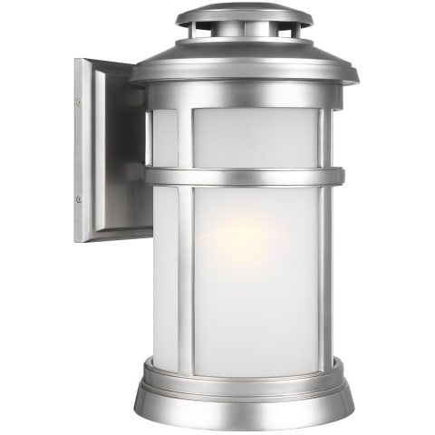 Newport Medium Lantern Painted Brushed Steel