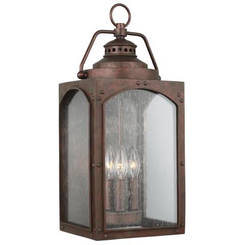 Randhurst 3 - Light Wall Lantern Copper Oxide