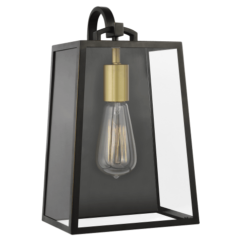 Lindbergh 1 - Light Wall Lantern Antique Bronze / Painted Burnished Brass