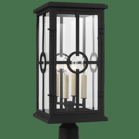Belleville Post Lantern Textured Black