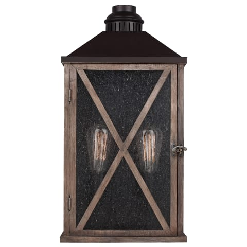 Lumiere' Large Lantern Dark Weathered Oak / Oil Rubbed Bronze