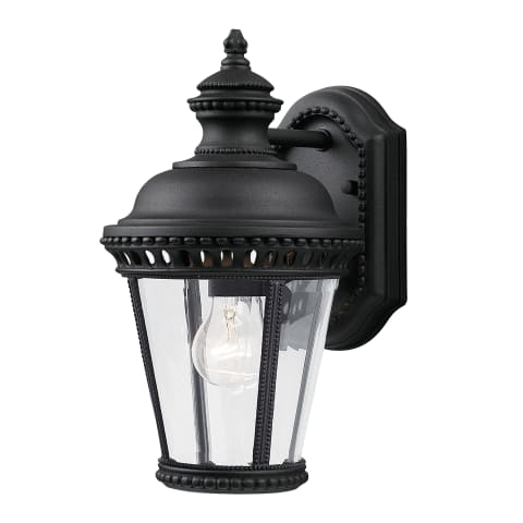 Castle 1 - Light Wall Lantern Black