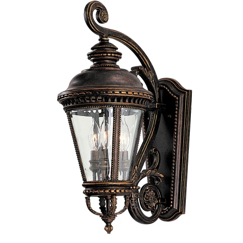 Castle 3 - Light Wall Lantern Grecian Bronze
