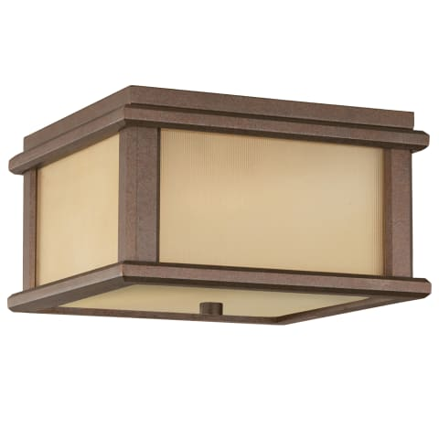 Mission Lodge 2 - Light Ceiling Fixture Brushed Aluminum