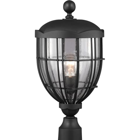 River North 1 - Light Outdoor Lantern Textured Black