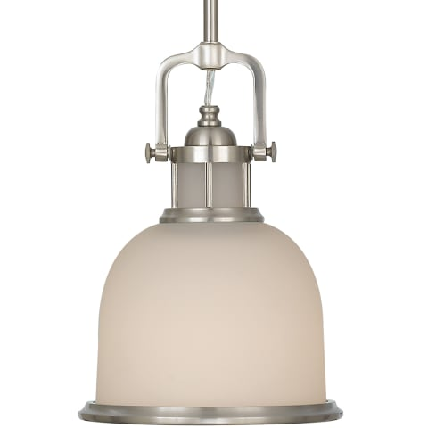 Parker Place Glass Mini Pendant Brushed Steel
