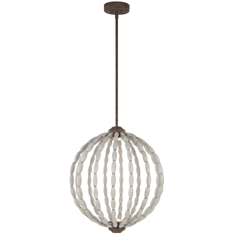 Orren 2 - Light Pendant Driftwood Grey / Weathered Iron Bulbs Inc