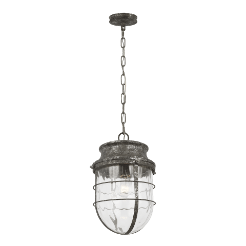 Parson 1 - Light Pendant Distressed Silver Leaf