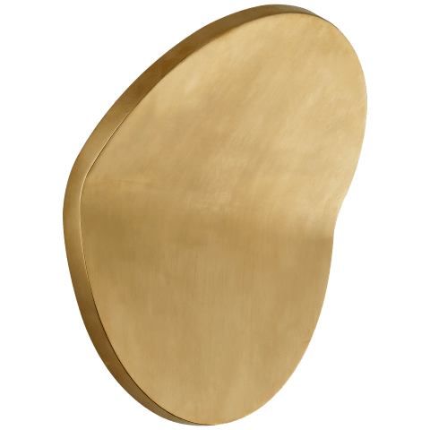 Bend Large Round Light in Natural Brass
