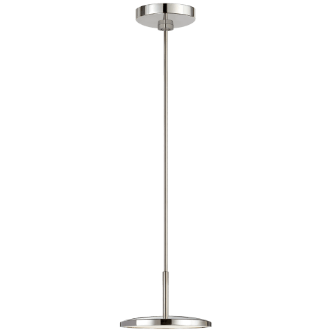 "Dot 9"" Pendant in Polished Nickel"
