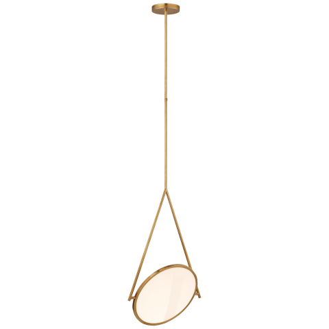 "Dot Stance 16"" Rotating Pendant in Natural Brass"